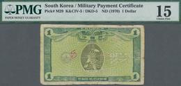 South Korea / Banknoten: 1 Dollar ND(1970) MPC, P.M29, Small Graffiti, Pinholes And Small Tear At Ce - Banknoten
