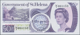 St. Helena: Government Of St. Helena Pair With 50 Pence And 1 Pound ND(1976-79), P.5, 6, Both In UNC - St. Helena