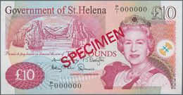 St. Helena: Government Of St. Helena 10 And 20 Pounds 2012 SPECIMEN, P.12bs, 13bs, Both With Red Ove - St. Helena