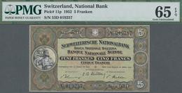 Switzerland / Schweiz: Schweizerische Nationalbank Set With 4 Banknotes 5 Franken 1952, P.11p, All P - Schweiz