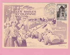 Th.16 Carte Illustrée Grand Prix De France 13.7. 1952  Les Sables D'Olonne - Cars