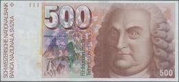 Switzerland / Schweiz: 500 Franken 1976, P.58a, Very Nice Condition With A Few Soft Folds And Minor - Schweiz