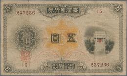 Taiwan: Bank Of Taiwan Ltd. 5 Gold Yen ND(1914), P.1922, Small Border Tears And Tiny Holes At Center - Taiwan