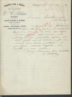 LETTRE COMMERCIALE DE 1911 V C PELLETIER CHAPELLERIE CIVILE & MILITAIRE SABRES ECT MARINE À ROCHEFORT : - France