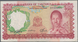 Tanzania / Tansania: 100 Shillings ND(1966), P.5b, Still Nice With Two Pinholes At Upper Left And A - Tansania