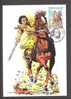 Carte Maximum - Chevalier Ardent - De Koene Ridder - François Craenhals - Timbre N° 3173 - 2003 - Maximum Cards