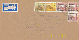 Zimbabwe Cover Sent Air Mail To Canada 12-10-1991 With More Topic Stamps - Zimbabwe (1980-...)