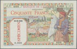 Tunisia / Tunisien:  Banque De L'Algérie – TUNISIE 50 Francs 1938-45 SPECIMEN, P.12s In Perfect UNC - Tunesien