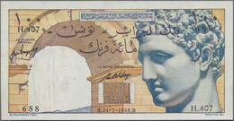 Tunisia / Tunisien: Banque De L'Algérie – TUNISIE 100 Francs 1948, P.24, Great Condition With A Few - Tunesien