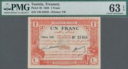 Tunisia / Tunisien: Régence De Tunis - Direction Générale Des Finances 1 Franc 1920, P.49, Excellent - Tunesien
