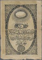 Turkey / Türkei: Ottoman Empire 10 Kurus ND(1853-54) With Seal Of Ahmed Muhtar On Back, P.23, Still - Turquia