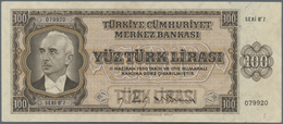 Turkey / Türkei: Türkiye Cümhuriyet Merkez Bankasi 100 Lira L.1930 ND(1942-47), Reichsdruckerei Berl - Turkey