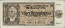 """Turkey / Türkei: 100 Lirasi L. 1930 (1942-1947) """"İnönü"""" - 3rd Issue, Highly Rare Banknote In Excepti - Turkey"""
