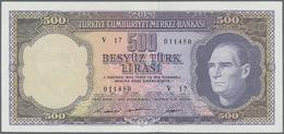"Turkey / Türkei: 500 Lirasi L. 1930 (1966-1969) ""Atatürk"" - 5th & 6th Issue, P.183, Very Nice Note W - Turquia"