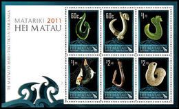 Nuova Zelanda / New Zealand 2011: Foglietto Hei Matau - Matariki / Hei Matau - Matariki S/S ** - Blocks & Sheetlets