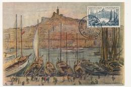 FRANCE - Carte Maximum - 8F MARSEILLE - Cachet Congrès Espérantiste Marseille - 20.5.1956 - Esperanto