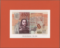 Testbanknoten: Very Rare Advertising Note By Giesecke & Devrient For The 850th Anniversary Of The Ci - Fiktive & Specimen