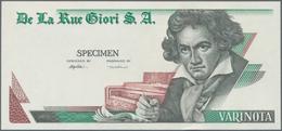 Testbanknoten: Bundle Of 100 Pcs. Test Notes By De La Rue Giori S.A. VARINOTA With Portrait Of Ludwi - Fiktive & Specimen