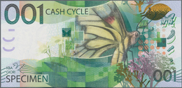 Testbanknoten: Bundle Of 100 Pcs. Test Notes By KBA Giori 001 CASH CYCLE With The Buttefly, Intaglio - Fiktive & Specimen