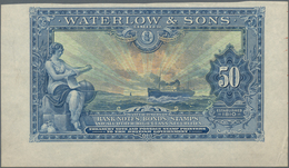 """Testbanknoten: Intaglio Printed Advertising Note By Waterlow & Sons. """"50"""" ND(1920), Large Size Forma - Fiktive & Specimen"""