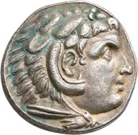 Makedonien - Könige: Alexander III., Der Große 336-323 V. Chr.: Lot 2 Stück; AR-Tetradrachme. Kopf M - Griechische Münzen