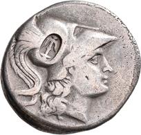 """Pamphylien: SIDE: Tetradrachme, 2.-1. Jhd. V. Chr.; 16,11 G, Mit Gegenstempel """"Anker"""" Auf Avers. Ath - Griechische Münzen"""