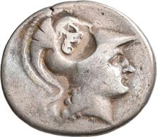 Pamphylien: SIDE: Tetradrachme, 2.-1. Jhd. V. Chr.; 16,23 G, Mit Gegenstempel Auf Avers. Athenakopf - Griechische Münzen