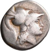"""Pamphylien: SIDE: Tetradrachme, 2.-1. Jhd. V. Chr.; 16,27 G, Mit Gegenstempel """"Anker"""" Auf Revers. At - Griechische Münzen"""