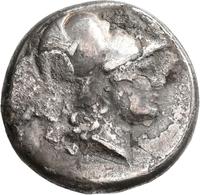 Pamphylien: SIDE: Tetradrachme, 2.-1. Jhd. V. Chr.; 16,41 G. Athenakopf Mit Korinthischem Helm / Nik - Griechische Münzen