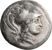Pamphylien: SIDE: Tetradrachme, 2.-1. Jhd. V. Chr.; 16,07 G. Athenakopf Mit Korinthischem Helm / Nik - Griechische Münzen