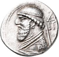Parther: Mithradates II. 121-91 V. Chr.: Drachme. Büste Mit Diadem Nach Links, Dahinter Monogramm (E - Griechische Münzen
