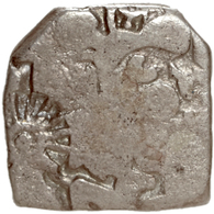 Baktrien: 303-220 V.Chr., AR-Drachme Mit Gegenstempel. Gewicht 3,19 Gramm. - Griechische Münzen