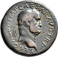 Galba (68 - 69): Æ-Sesterz, 25,53 G, Kampmann 17.62, Dunkelbraune Patina, Schrötlingsfehler, Fast Se - 1. Die Julio-Claudische Dynastie (-27 / 69)