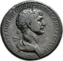 Traian (98 - 117): Æ-Sesterz, 26,87 G, Cohen 157, Dunkelbraune Patina, Minimal Korrodiert, Sehr Schö - 3. Die Antoninische Dynastie (96 / 192)