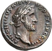 Antoninus Pius (138 - 161): Denar, GENIVS POP ROMANI; Kampmann 35.82; 2,62 G, Fast Vorzüglich. - 3. Die Antoninische Dynastie (96 / 192)