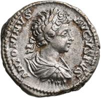 Caracalla (196 - 198 - 217): Als Augustus 198-217: Lot 2 Denare O.J. Portrait Mit Lorbeerkranz Nach - 4. Die Severische Dynastie (193 / 235)