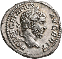 Geta (198 - 209 - 212): Als Augustus 209-212: Denar O.J. Portrait Mit Lorbeerkranz Nach Rechts, P SE - Ohne Zuordnung