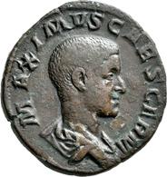 Maximus (235 - 238): Æ-Dupondius, 19,68 G, Kampmann 67.5, Dunkelbraune Patina, Sehr Schön+. - Ohne Zuordnung