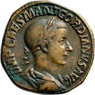 Gordianus III. (238 - 244): Sesterz. Portrait Mit Lorbeerkranz Nach Rechts, IMP CAES MANT GORDIANVS - 5. Der Soldatenkaiser (die Militärkrise) (235 / 284)