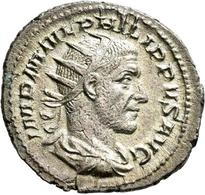 Philippus I. Arabs (244 - 249): AR Antoninian, 3,70 G. Drapierte Büste Mit Strahlenkrone Nach Rechts - 5. Der Soldatenkaiser (die Militärkrise) (235 / 284)