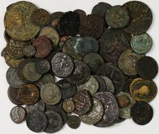 Antike: Lot 72 Antike Münzen, überwiegend Römer, Nicht Näher Bestimmt. Gekauft Wie Gesehen, Keine Sp - Antike