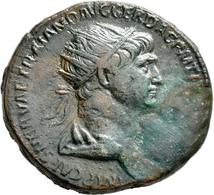 Antike: Römische Kaiserzeit: Lot 3 Stück; Trauanus 98-117: Dupondius, 13,17 G / Hadrianus 117-138: Æ - Antike