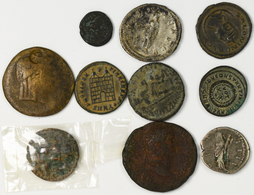 Antike: Lot 10 Antike Münzen; Griechische, Römische Und Orientalische; Gering Erhalten Bis Sehr Schö - Antike