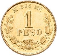 Mexiko: 1 Peso 1892 Mo M. KM# 410.5. 1,69 G, 875/1000 Gold. Vorzüglich. - Mexiko