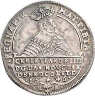 Dänemark: Christian IV. 1588-1648: Speciedaler 1646 HK. Davenport 3536, Hede 55 D, 28,70 G, Hübsche - Dänemark