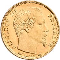 Frankreich - Anlagegold: Napoleon III. 1852-1870: 5 Francs 1855 A, KM# 783, Friedberg 578. 1,60 G, 9 - Oro