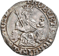 Italien: Neapel-Königreich, Roberto I. 1309-1343: Gigliato O. J., Av: Herrscher Auf Löwenthron / Rv: - 1861-1946 : Kingdom