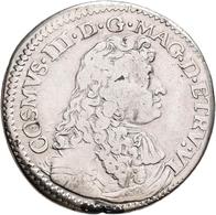Italien: Florenz, Cosimo III. 1670-1723: Testone 1677. MIR 333. Büste Nach Rechts, COSMVS III D G MA - 1861-1946 : Kingdom
