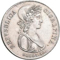 Italien: Cisalpine Republik 1800-1802: 30 Soldi Anno IX (1801), Minimal Justiert, Prägeschwäche, Pag - 1861-1946 : Kingdom