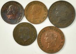 Italien: Napoleon I. 1805-1814: Lot 5 Münzen Regno D' Italia: 3 Centesimi (2x), 5 Centesimi (1x), So - 1861-1946 : Kingdom
